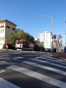 crossing Lombard St