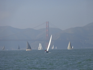 sailboat racing in SF Bay