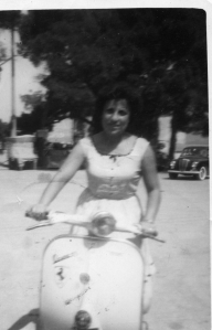 Mamma Giovanna Aversa on Vespa 1950's