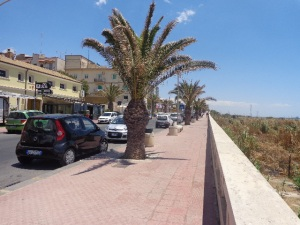 Along the waterfront in Gela