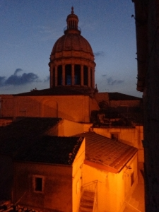 dusk dome and roofs