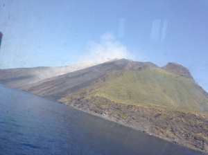 arriving stromboli from sea