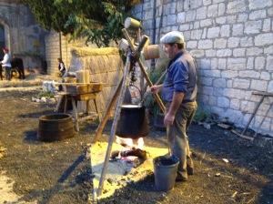 making ricotta