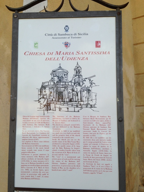 Chiesa Maria Santissima dell'Udienza Sambuca
